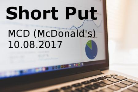 Short Put McDonald's 10.08.2017
